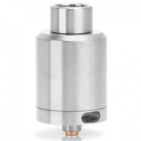 Kindbright Kennedy 24 Style RDA Rebuildable Dripping Atomizer - Silver, Stainless Steel, 24mm Diameter