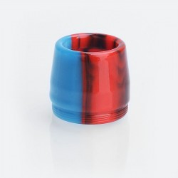 Replacement Drip Tip for Taifun BT Style Tank Atomizer - Red + Light Blue, Resin, 16mm
