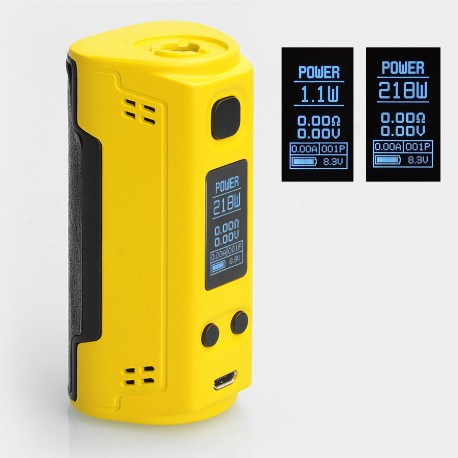 Authentic SOOMOOK FF91 200W TC VW Variable Wattage Box Mod - Yellow, 15~200W, 2 x 18650