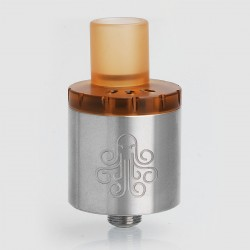 Authentic Cthulhu MTL RDA Rebuildable Dripping Atomizer w/ BF Pin - Silver, Stainless Steel, 22mm Diameter