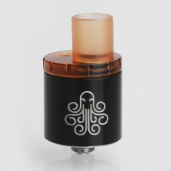 Authentic Cthulhu MTL RDA Rebuildable Dripping Atomizer w/ BF Pin - Black, Stainless Steel, 22mm Diameter