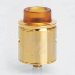 Authentic Vandy Vape MESH RDA Rebuildable Dripping Atomizer w/ BF Pin - Gold, Stainless Steel, 24mm Diameter