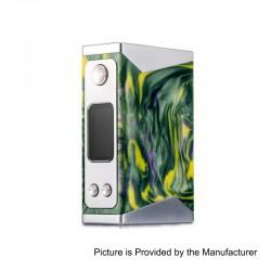 Authentic Wotofo Stentorian Basilisk 200W TC VW Variable Wattage Box Mod - Yellow + Green, Zinc Alloy + Resin, 2 x 18650