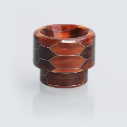 810 Replacement Wide Bore Drip Tip for 528 Goon / Kennedy / Battle / Mad Dog RDA - Brown, Resin, 14mm
