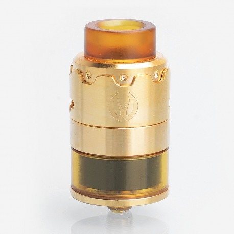 Authentic Vandy Vape PYRO 24 RDTA Rebuildable Dripping Tank Atomizer - Gold, Stainless Steel, 4.5ml, 24.4mm Diameter