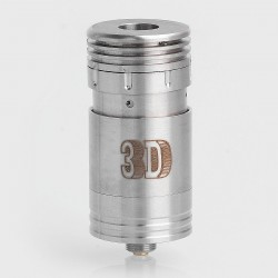 SXK 3D Style RDA Redbuildable Dripping Atomizer for Nemesis Mod - Silver, Stainless Steel, 22mm Diameter