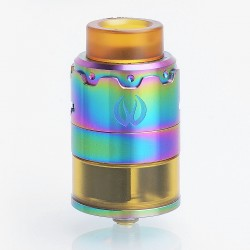 Authentic Vandy Vape PYRO 24 RDTA Rebuildable Dripping Tank Atomizer - Rainbow, Stainless Steel, 4.5ml, 24.4mm Diameter