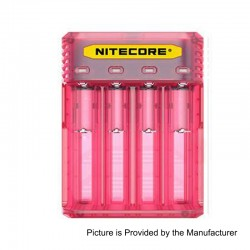 Authentic Nitecore Q4 2A Quick Charger for 18650 / 20700 / 26650 Rechargeable Battery - Pink, 4 x Battery Slots, US Plug