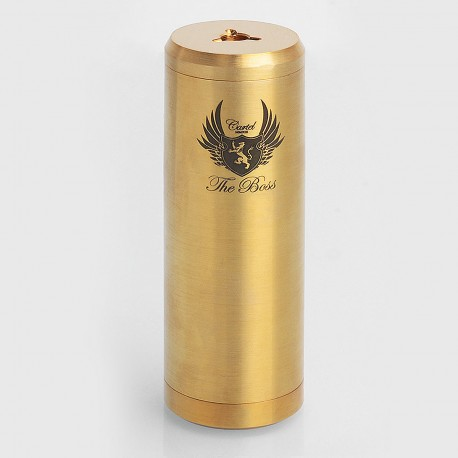 SXK Cartel Style Mechanical Mod - Brass, Brass, 1 x 26650