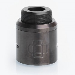 Authentic Augvape Druga RDA Top Cap Kit w/ Drip Tip - Gun Metal, Stainless Steel