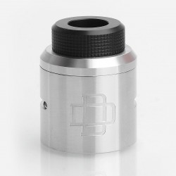 Authentic Augvape Druga RDA Top Cap Kit w/ Drip Tip - Silver, Stainless Steel