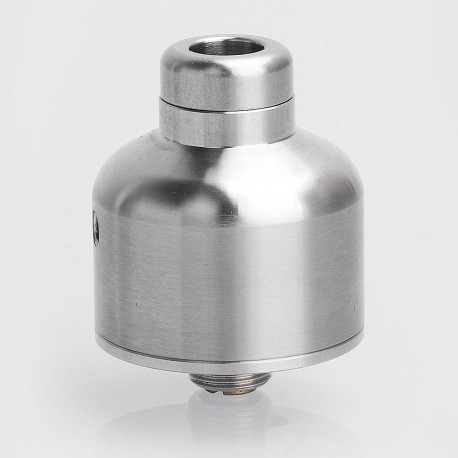 Nipple Style RDA Rebuildable Dripping Atomizer - Silver, 316 Stainless Steel, 22mm Diameter