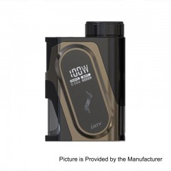 Authentic IJOY Capo 100W 3000mAh Squonk Box Mod - Gun Metal, 1 x 18650 / 20700 / 21700 (with 20700 Battery)