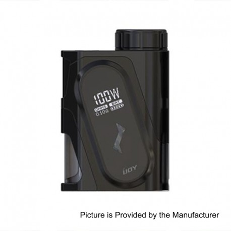 Authentic IJOY Capo 100W 3000mAh Squonk Box Mod - Black, 1 x 18650 / 20700 / 21700 (with 20700 Battery)