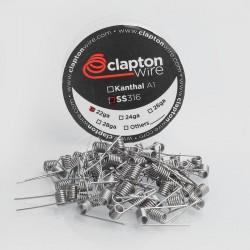 Authentic Claptonwire SS316 Pre-built Coil Heating Wire - 22GA (40 PCS)
