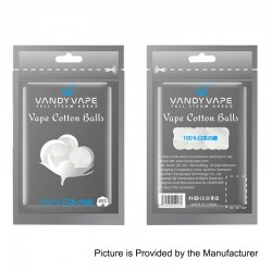 Authentic Vandy Vape Cotton Balls for DIY Coil Building - 160 x 99mm (8 PCS)