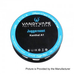 Authentic Vandy Vape Kanthal A1 Juggernaut Heating Resistance Wire - (28GA + 37GA) x 2 + 24GA x 37GA x 3, 3m (10 Feet)