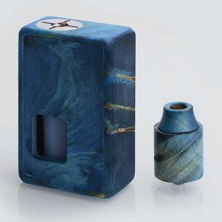 VGME Style Bottom Feeder Squonk Mechanical Box Mod + BF RDA Kit - Random Color, Stabilized Wood, 1 x 18650, 8ml, 24mm Diameter