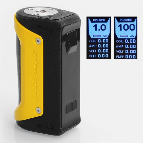 Authentic GeekVape AEGIS 100W Water-proof TC VW Variable Wattage Box Mod - Yellow, Zinc Alloy, 1~100W, 1 x 18650 / 26650