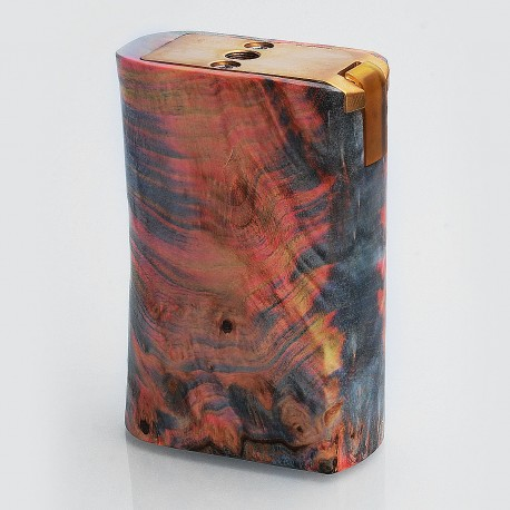 Authentic PCC Team Mechanical Box Mod - Random Color, Stabilized Wood, 2 x 18650