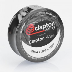Authentic Claptonwire Kanthal A1 Clapton Wire Heating Resistance Wire - 26GA + 32GA, 5m (15 Feet)