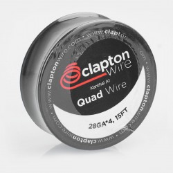 Authentic Claptonwire Kanthal A1 Quad Wire Heating Resistance Wire - 28GA x 4, 5m (15 Feet)
