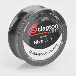 Authentic Claptonwire Kanthal A1 Hive Wire Heating Resistance Wire - (30GA + 30GA) x 2, 5m (15 Feet)
