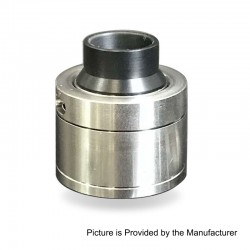 SXK Sentinel Style RDA Rebuildable Dripping Atomizer w/ BF Pin - Silver, 316 Stainless Steel, 22mm Diameter