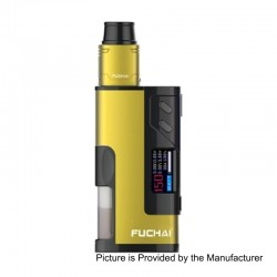 Authentic Sigelei Fuchai Squonk 213 150W TC VW Variable Wattage Mod Kit - Yellow, 10~150W, 5ml, 1 x 18650 / 20700 / 21700