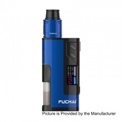 Authentic Sigelei Fuchai Squonk 213 150W TC VW Variable Wattage Mod Kit - Blue, 10~150W, 5ml, 1 x 18650 / 20700 / 21700