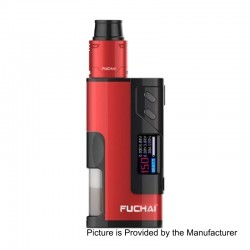 Authentic Sigelei Fuchai Squonk 213 150W TC VW Variable Wattage Mod Kit - Red, 10~150W, 5ml, 1 x 18650 / 20700 / 21700