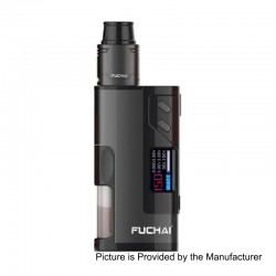 Authentic Sigelei Fuchai Squonk 213 150W TC VW Variable Wattage Mod Kit - Black, 10~150W, 5ml, 1 x 18650 / 20700 / 21700