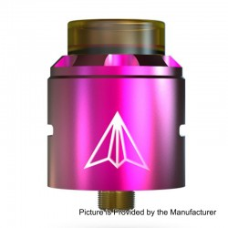 Authentic Hotcig Aircraft RDA Rebuildable Dripping Atomizer w/ BF Pin - Pink, Stainless Steel, 24mm Diameter