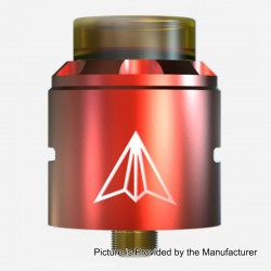 Authentic Hotcig Aircraft RDA Rebuildable Dripping Atomizer w/ BF Pin - Red, Stainless Steel, 24mm Diameter