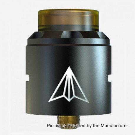 Authentic Hotcig Aircraft RDA Rebuildable Dripping Atomizer w/ BF Pin - Black, Stainless Steel, 24mm Diameter