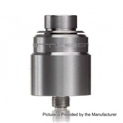 YFTK Entheon RDA Rebuildable Dripping Atomizer w/ BF Pin - Silver, Stainless Steel, 22mm Diameter