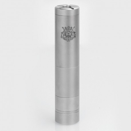 SXK King Style Mechanical Mod - Silver, Stainless Steel, 1 x 18350 / 18490 / 18650