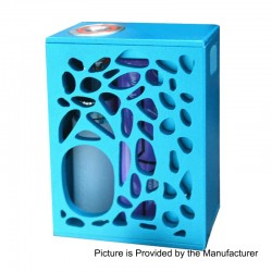Authentic Yiloong Geyscano 75W VW Variable Wattage Squonk Box Mod - Blue, Aluminum, 8ml, 1 x 18650, DNA75W Chip