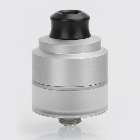 Authentic GAS Mods Nixon V1.0 RDTA Rebuildable Dripping Tank Atomizer - Silver, Stainless Steel, 2ml, 22mm Diameter