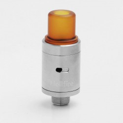 YFTK Viper V2 Style RDA Rebuildable Dripping Atomizer w/ Bottom Feeder Pin - Silver, 316 Stainless Steel + PEI, 14mm Diameter