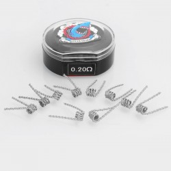 Authentic Vapethink Kanthal A1 Satan V2 Pre-built Coil Heating Wire - (28GA x 4) x 2, 0.2 Ohm (10 PCS)