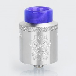 Authentic Hellvape Dead Rabbit RDA Rebuildable Dripping Atomizer w/ BF Pin - Silver, Stainless Steel, 24mm Diameter