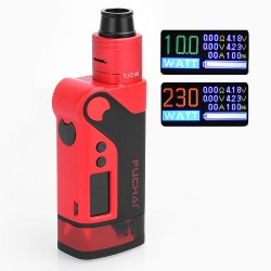 Authentic Sigelei Fuchai Vcigo K2 175W TC VW Variable Wattage Box Mod + Cubic RDA Kit - Red, Zinc Alloy, 10~175W, 2 x 18650