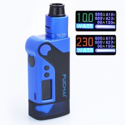 Authentic Sigelei Fuchai Vcigo K2 175W TC VW Variable Wattage Box Mod + Cubic RDA Kit - Blue, Zinc Alloy, 10~175W, 2 x 18650