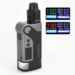 Authentic Sigelei Fuchai Vcigo K2 175W TC VW Variable Wattage Box Mod + Cubic RDA Kit - Black, Zinc Alloy, 10~175W, 2 x 18650