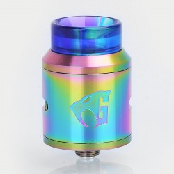 Goon 1.5 Style RDA Rebuildable Dripping Atomizer w/ Resin Drip Tip - Rainbow, Stainless Steel, 24mm Diameter