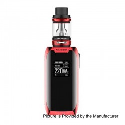 Authentic Vaporesso Revenger X 220W TC VW Variable Wattage Mod + NRG Tank Kit - Red, 5~220W, 2 x 18650, 5ml, 26.5mm Diameter