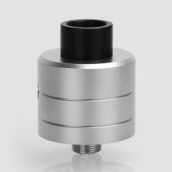YFTK Haku Phenom Style RDA Rebuildable Dripping Atomizer w/ BF Pin - Silver, 316 Stainless Steel, 22mm Diameter
