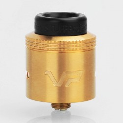Vaperstuff Project VP Style RDA Rebuildable Dripping Atomizer w/ BF Pin - Gold, Stainless Steel, 24mm Diameter