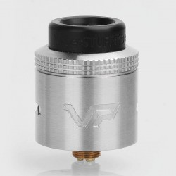 Vaperstuff Project VP Style RDA Rebuildable Dripping Atomizer w/ BF Pin - Silver, Stainless Steel, 24mm Diameter